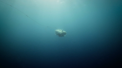 ROV descending to depths