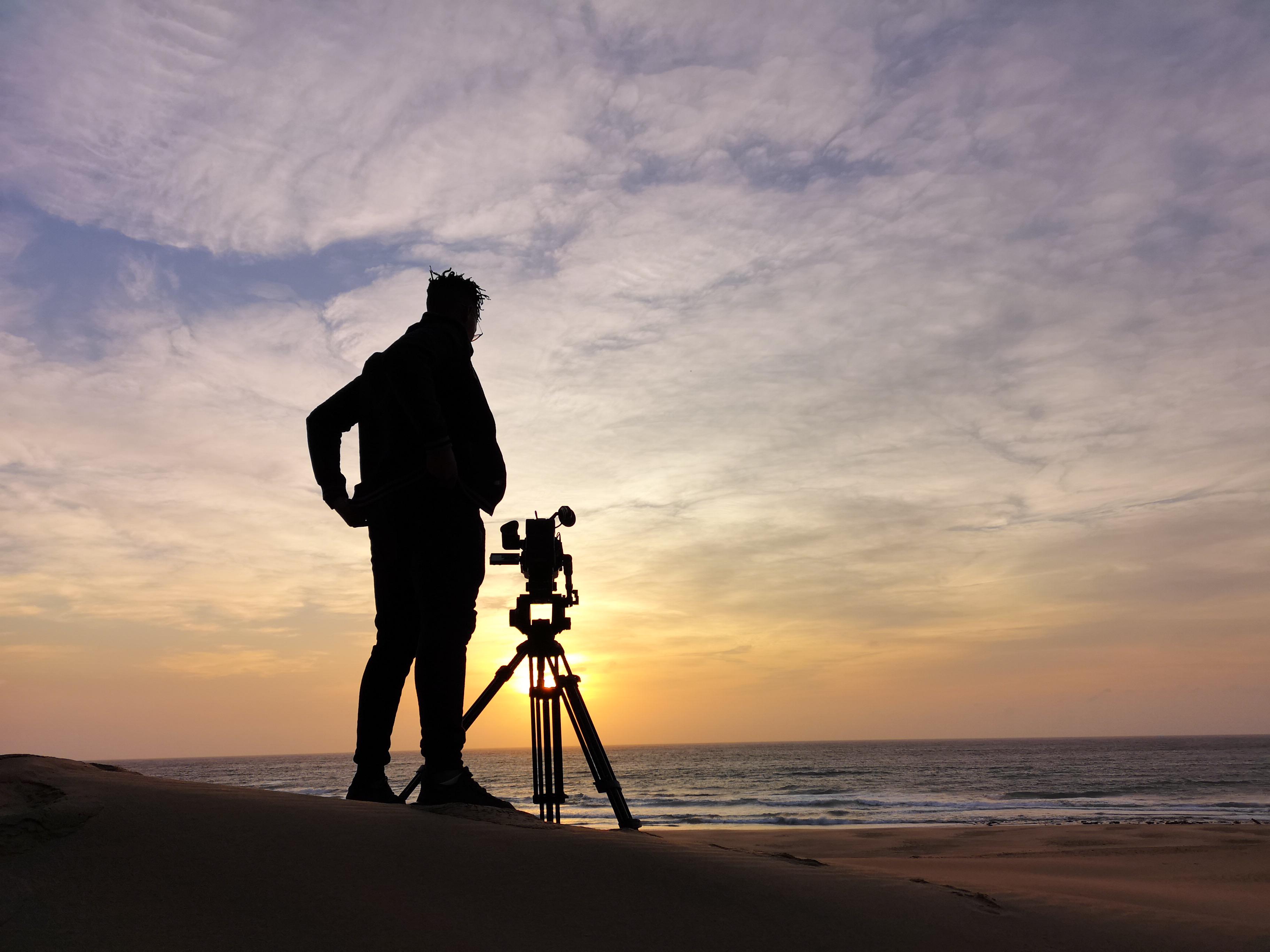 Filming the sunrise in Cape Vidal