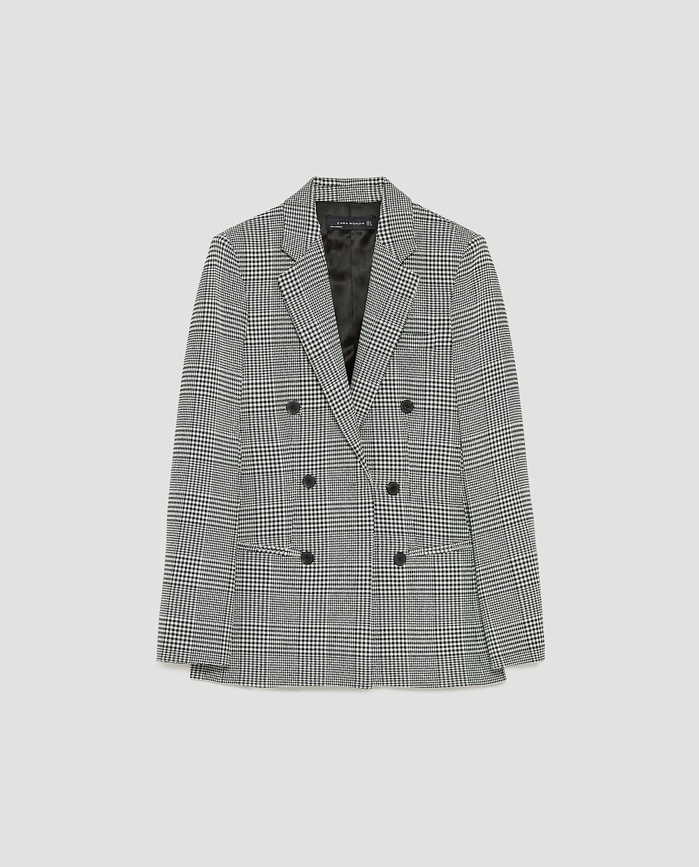 Image 8 of CHECKED DOUBLE-BREASTED JACKET from Zara