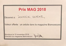 Annick Goeke Montreux Art Gallery Prize 2018
