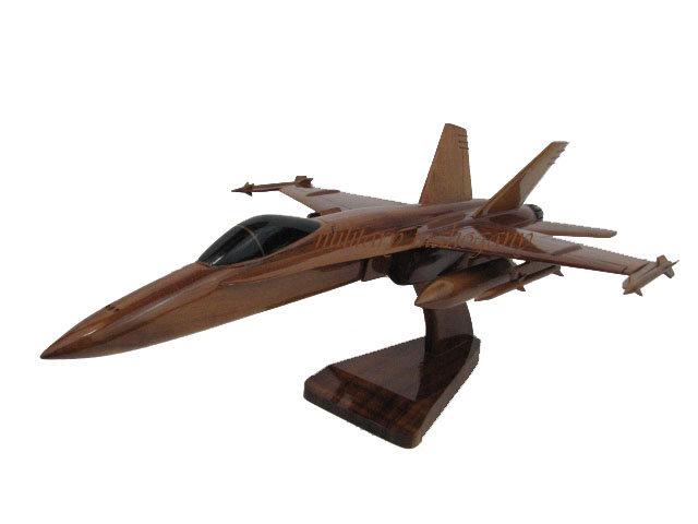 F/A-18 Hornet Wooden Model