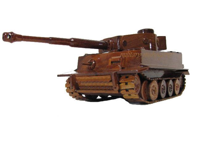 German Tiger 1 Wooden Model