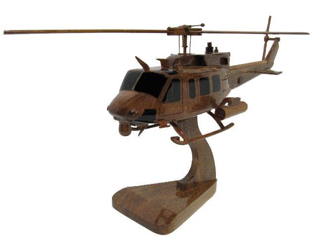 UH-1N Twin Huey Wooden Model