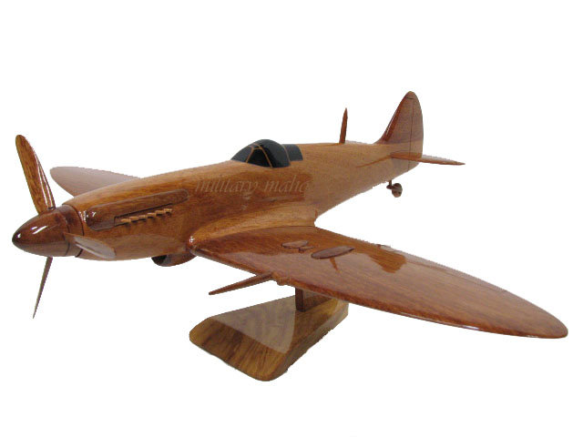 Supermarine Spitfire Wooden Model with 2 Props