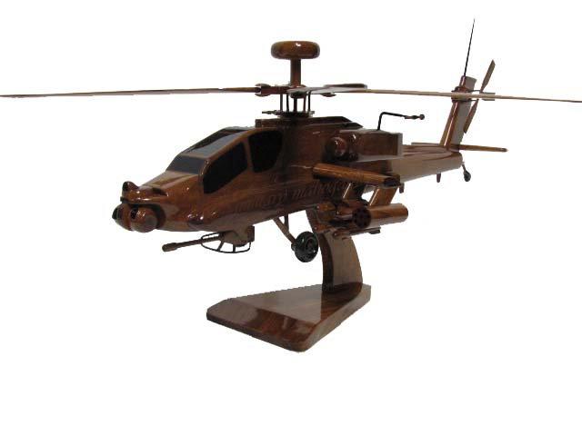 AH-64 Apache Longbow Wooden Model