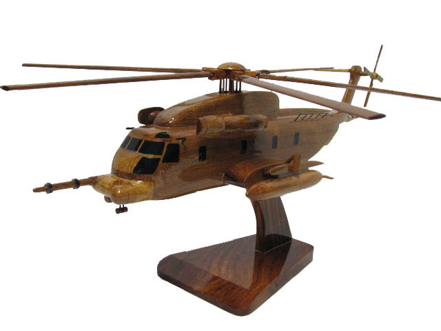 MH-53 Pave Low Wooden Model