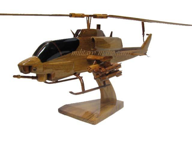 AH-1W Super Cobra Wooden Model