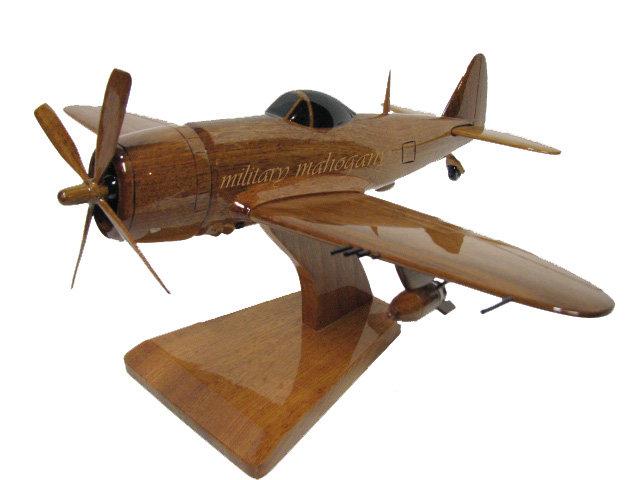 P-47 Thunderbolt Bubbletop Wooden Model