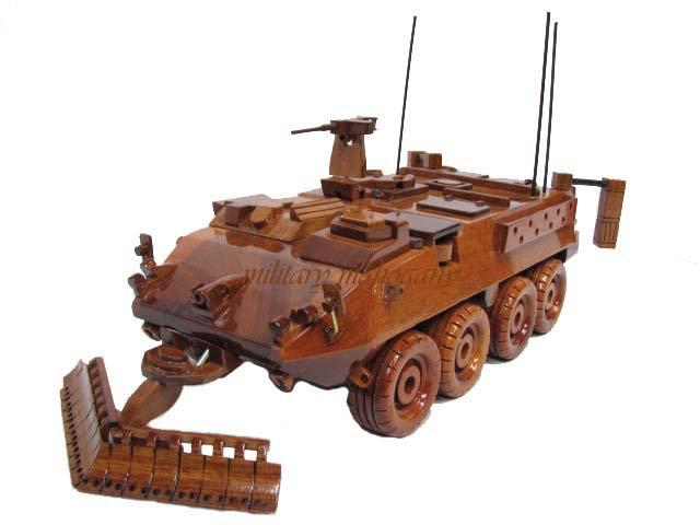 M1132 Stryker ESV Engineer Wooden Model