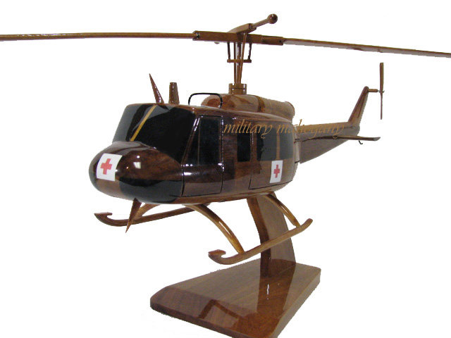 UH-1 Huey Dustoff Wooden Model