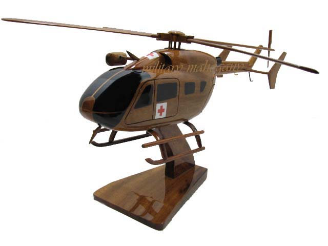 UH-72 Lakota Dustoff Wooden Model