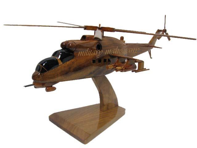 Mi-24 Hind D Wooden Model