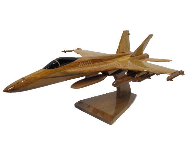 F-18 Super Hornet Wooden Model