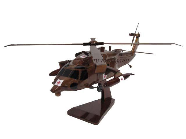 HH-60M Blackhawk Dustoff Wooden Model ERFS