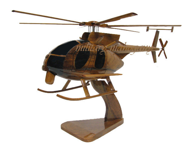 MH-6Little Bird Wooden Model