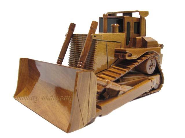 Caterpillar D9 Bulldozer Wooden Model