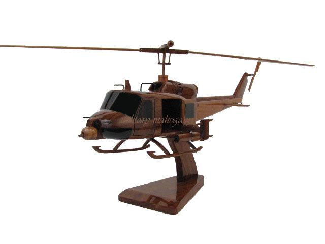 UH-1C Huey Hog Gunship Wooden Model