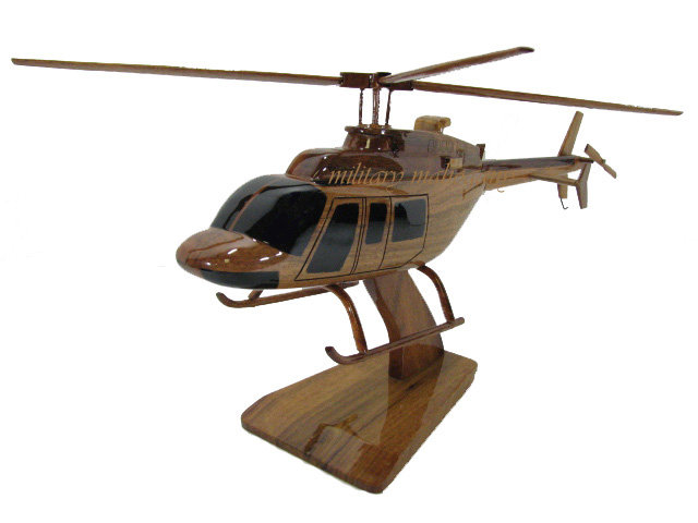 Bell 407 Wooden Model