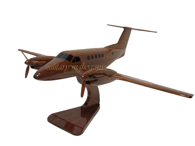 Beech King Air 200 Wooden Model