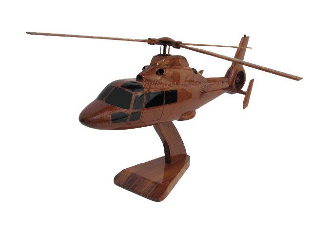 AS365 Dauphin Wooden Model