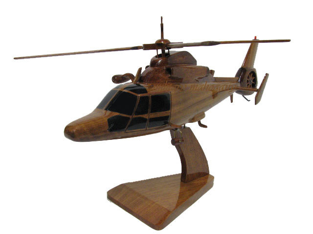 HH-65 MH-65 Dauphin Wooden Model