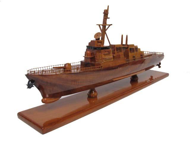 USS John Paul Jones Arleigh Burke-Class Wooden Model