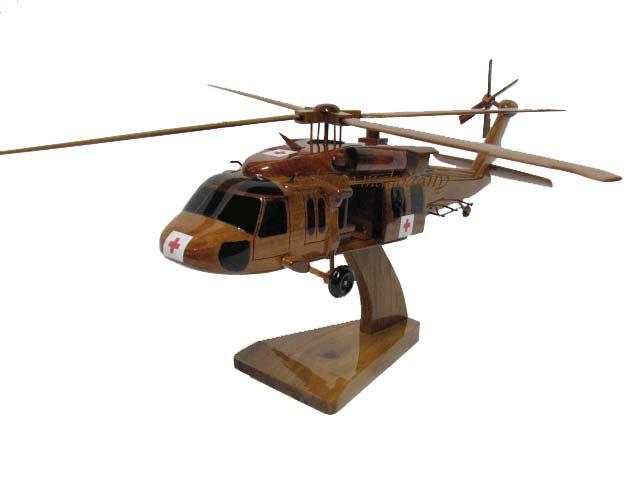 UH-60 Blackhawk Dustoff Wooden Model