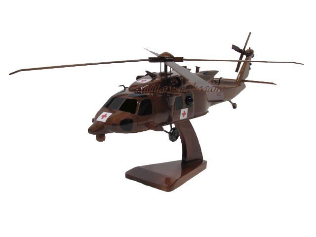 HH-60M Blackhawk Dustoff Wooden Model