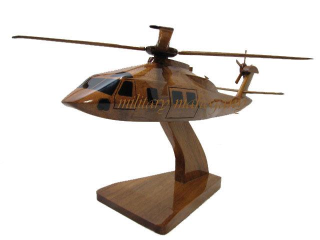 MH-60 Stealth Blackhawk Wooden Model