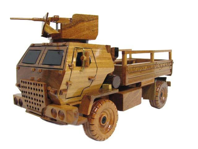 M1078 LMTV Wooden Model with 50 cal Machine Gun