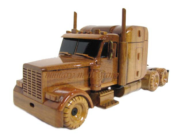 Peterbilt Semi Wooden Model