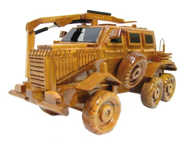 Buffalo 6x6 Wooden Model MRAP