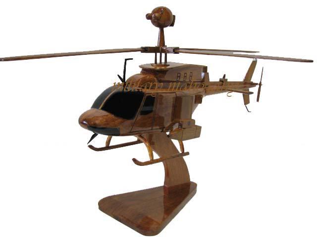OH-58D Kiowa Warrior Wooden Model