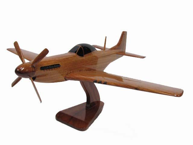 P-51 Mustang Wooden Model