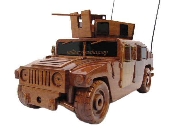 M1151 Humvee Wooden Model with 50cal Machine Gun
