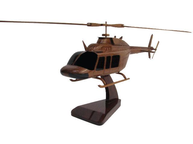 Bell 206L Long Ranger Wooden Model