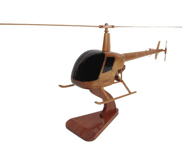 Robinson 22 R-22 Wooden Model
