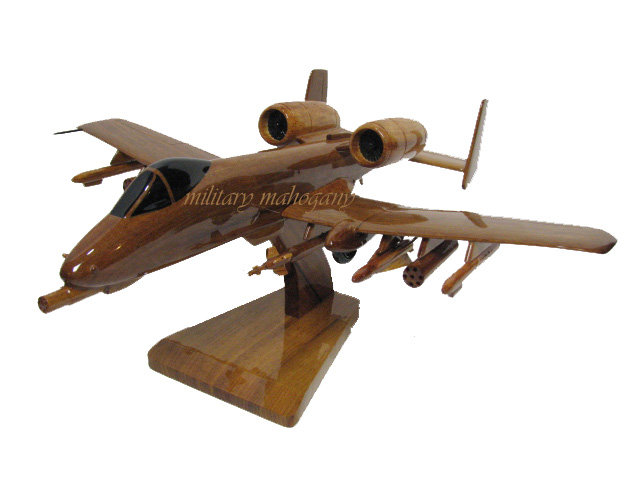 A-10 Warthog Wooden Model