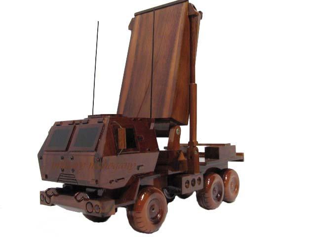 AN/TPQ-53 Target Acquisition Radar System Wooden Model