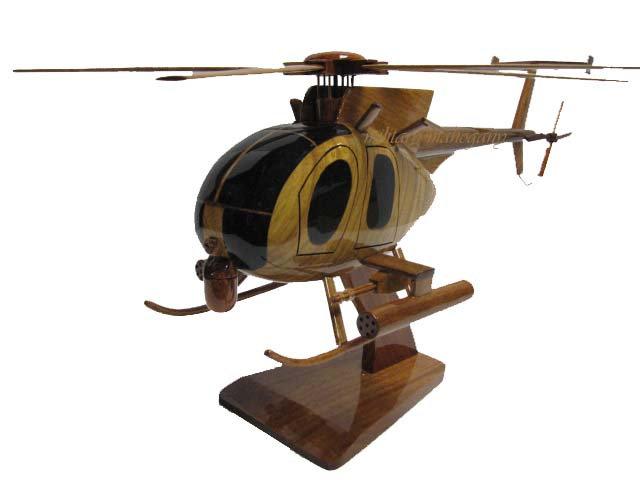 AH-6 Little Bird Wooden Model