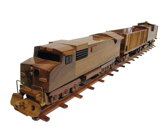 CSX, Norfolk Southern, Union Pacific, Burlington Northern Train Wooden Model