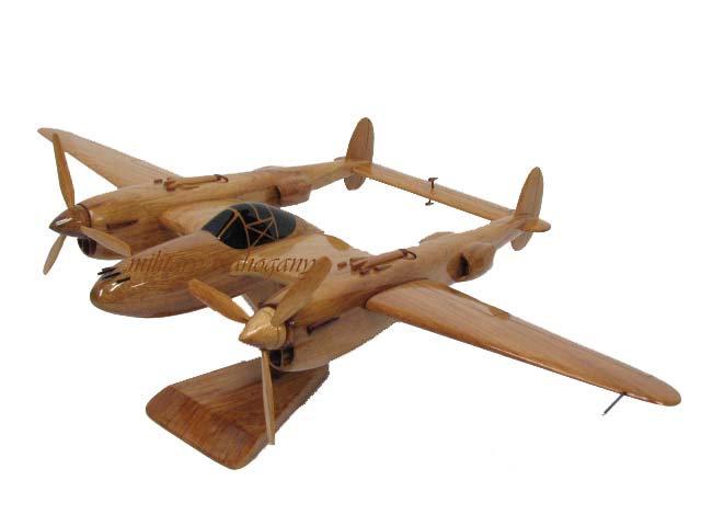 P-38 Lightning Wooden Model