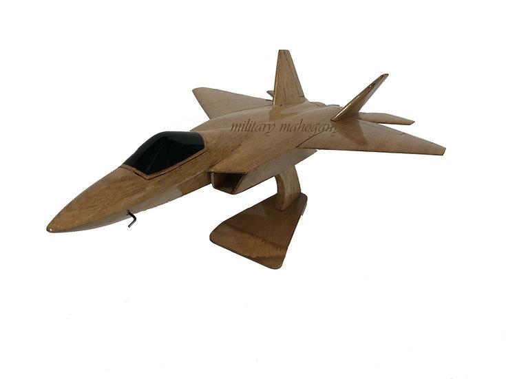 F-22 Raptor Wooden Model