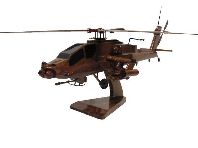 AH-64 Apache Wooden Model