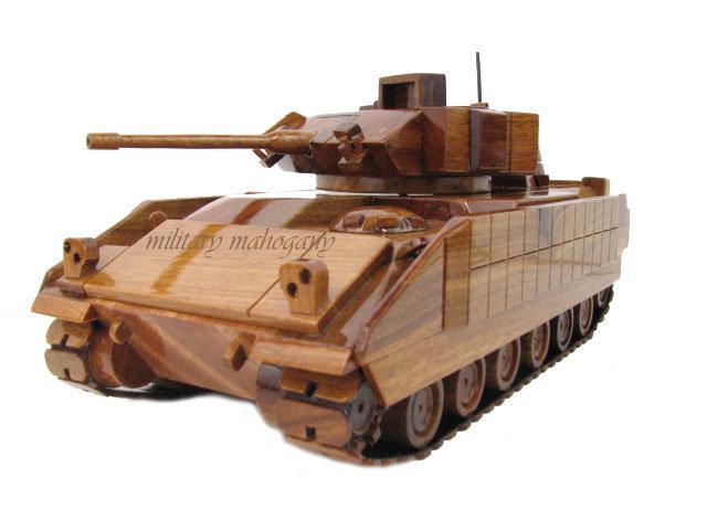 M2/M3 Bradley Fighting Vehicle Wooden Model