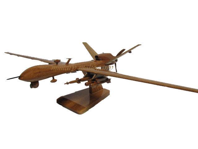MQ-9 Reaper Predator B Wooden Model