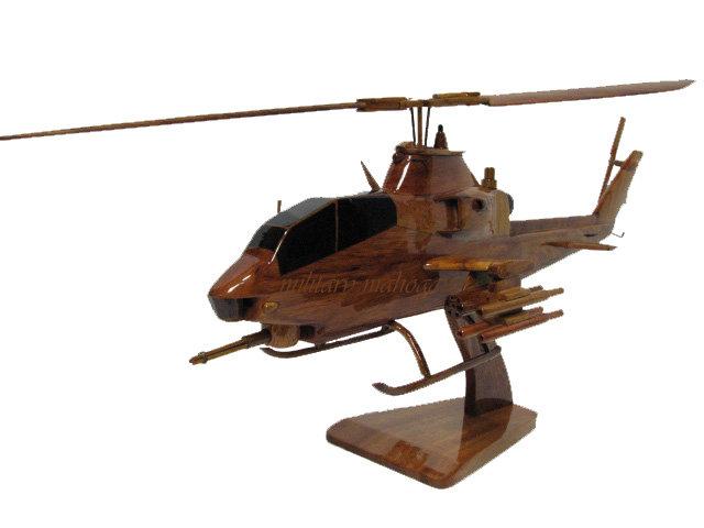 AH-1F Cobra Wooden Model