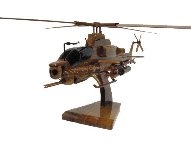 AH-1Z Zulu Cobra Wooden Model