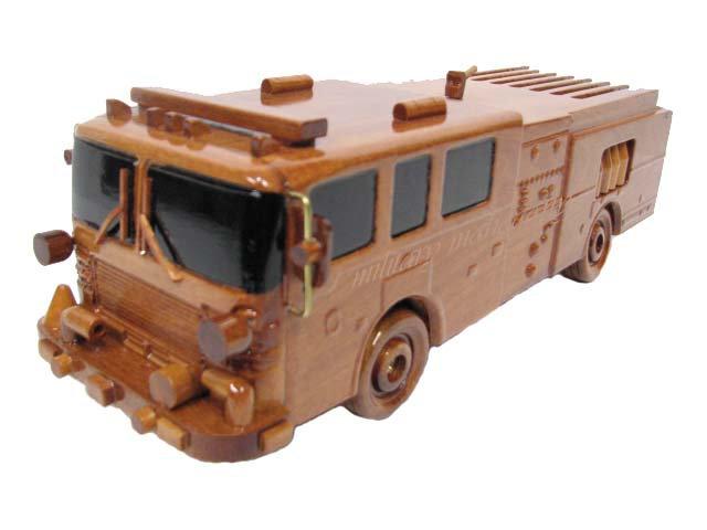 Fire Truck Wooden Model