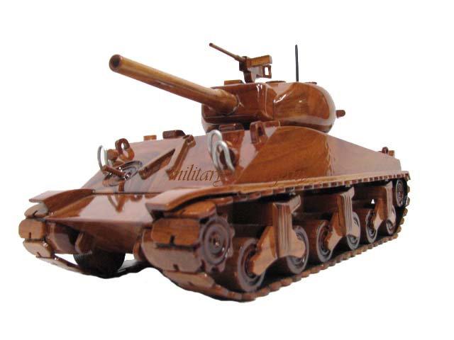 M4 Sherman Tank Wooden Model